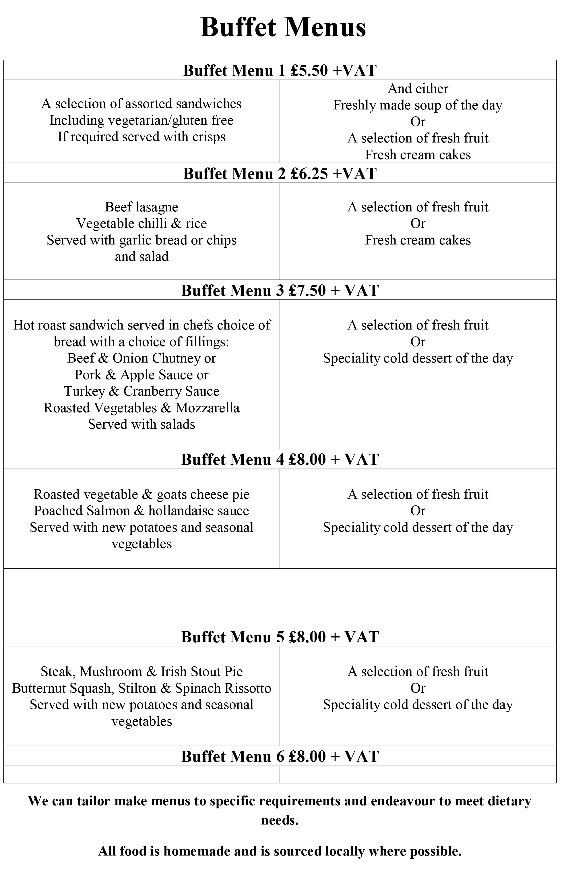Buffet Menu-1